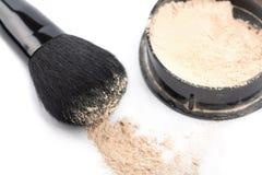 Powder And Black Brush Isolated Stock Image
