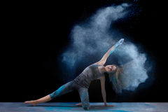 Powder. Artistic dance pose using powder Stock Photography