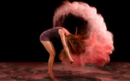 Powder. Artistic dance pose using powder Royalty Free Stock Photos