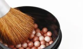 Powder balls and brush Royalty Free Stock Photo