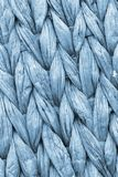 Powder Blue Palm Fiber Place Mat Coarse Plaiting Rustic Grunge Texture Detail.  Royalty Free Stock Photo