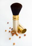 Powder and brush Royalty Free Stock Photo