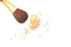 Powder and brush Stock Image