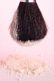 Powder and brush Royalty Free Stock Photo
