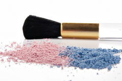 Powder and brush Stock Image