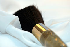 Powder Brush. A woman would use for powder foundation or blush stock images