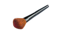 Powder brush. Closeup of face powder brush  on white Royalty Free Stock Photo