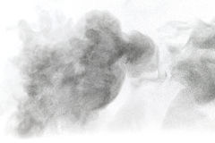 Powder cloud against white background Stock Photo