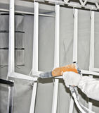 Powder coating sprayer. In the hand Royalty Free Stock Images
