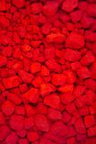Powder color. Red powder color in factory Stock Photos