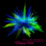 Powder color explosion for Happy Holi Background Royalty Free Stock Photo