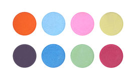 Powder color palette buttons Royalty Free Stock Images