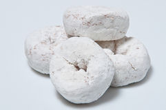 Powder doughnut pile Royalty Free Stock Photo