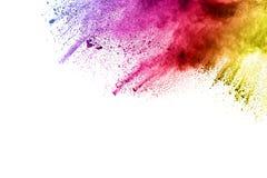 Powder explosion. Color powder explosion on white background Stock Photo