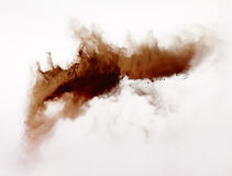 Powder explosion isolated on white background Royalty Free Stock Photo