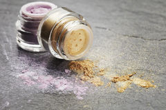 Powder eye shadow with glitter Royalty Free Stock Photos