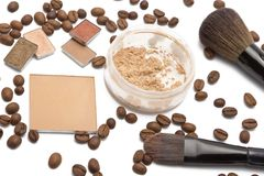 Cosmetics beige shades Stock Images