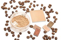 Cosmetics beige shades Stock Photography