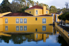 Powder Factory. The reflex of a house in the power factory in portugal Royalty Free Stock Images