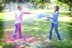 Powder fight Stock Photography