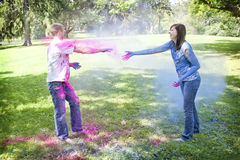 Powder fight Stock Images