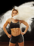 Powder Fitness Royalty Free Stock Photography