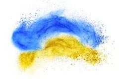 Powder foundation explosion isolated on white Stock Photos