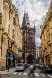 Powder Gate in Prague Prašná brána Stock Photo