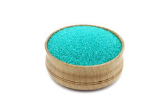 Powder green sand in a glass bowl Royalty Free Stock Photo