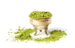 Powder green tea Royalty Free Stock Photos