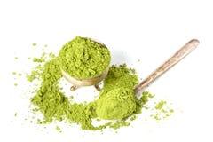 Powder green tea Stock Photography