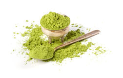 Powder green tea Royalty Free Stock Images