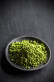 Powder green tea Royalty Free Stock Photography
