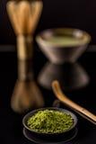 Powder green tea Royalty Free Stock Photo