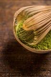 Powder green tea Royalty Free Stock Images