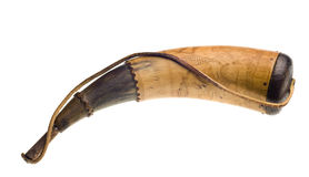 Powder horn isolated Stock Image