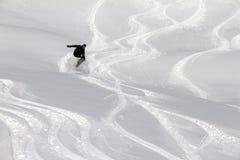 Powder jump Stock Photo