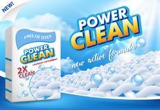 Powder laundry detergent advertising vector illustration royalty free illustration