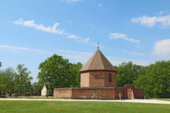The powder magazine in Colonial Williamsburg, Virginia, against Royalty Free Stock Image