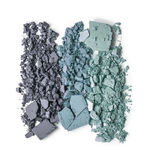 Powder makeup crushed trio. Grey blue green stock photography