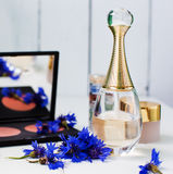 Powder and perfume Royalty Free Stock Images