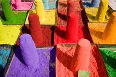 Powder pigments Royalty Free Stock Photos