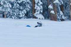 Powder2 profondo: Divertimento al Beaver Creek, Colorado di tempo di Natale fotografia stock libera da diritti