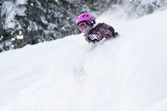 Powder riding Royalty Free Stock Photos