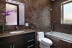 Powder room with granite walls Stock Photos