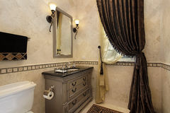 Powder room in luxury home Royalty Free Stock Images