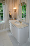 Powder room in luxury home Stock Image
