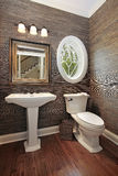 Powder room in luxury home Stock Photography