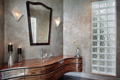 Free Powder Room With Leaded Glass Royalty Free Stock Image - 13458106