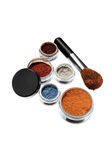 Powder set in assorted colors Royalty Free Stock Photography
